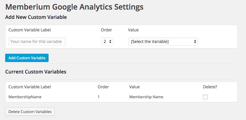 Google Analytics Setup Dashnboard