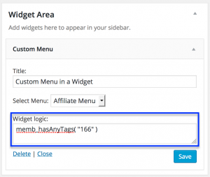 conditional-sidebar-menus-infusionsoft-wordpress