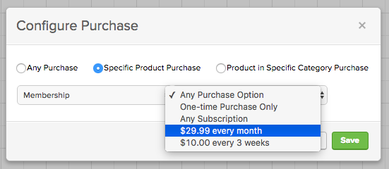Configure Your Purchase Goal