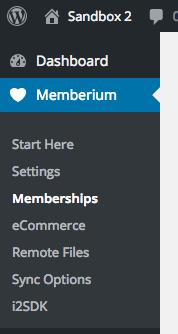 Memberium Membership Menu