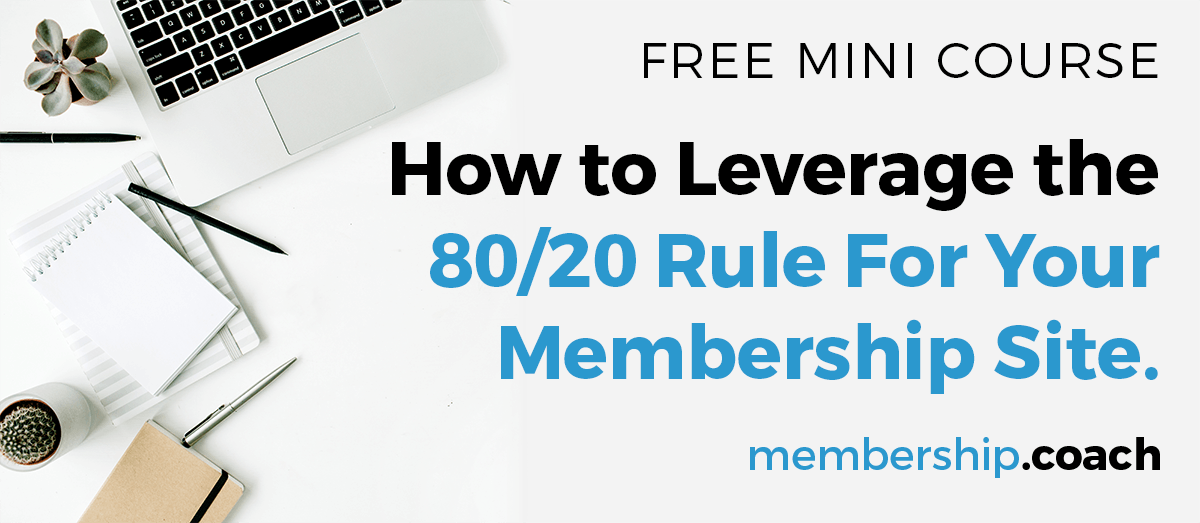 free course - how to leverage the 80/20 rule for your site...
