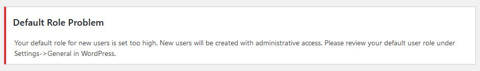 default user role