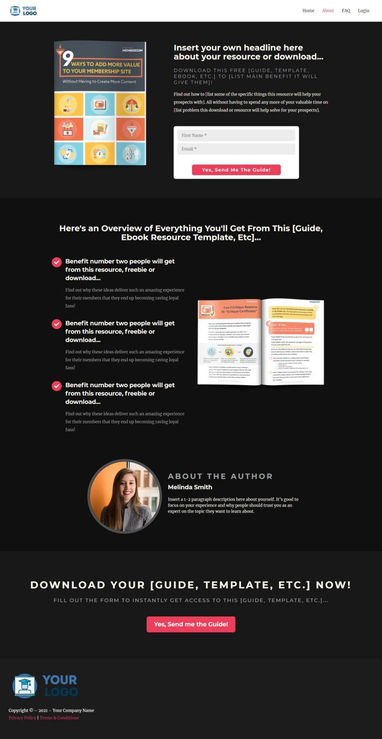 Elite IS Ebook Landing Page