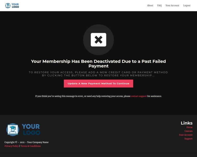 Elite IS Membership Deactivate Pay Fail