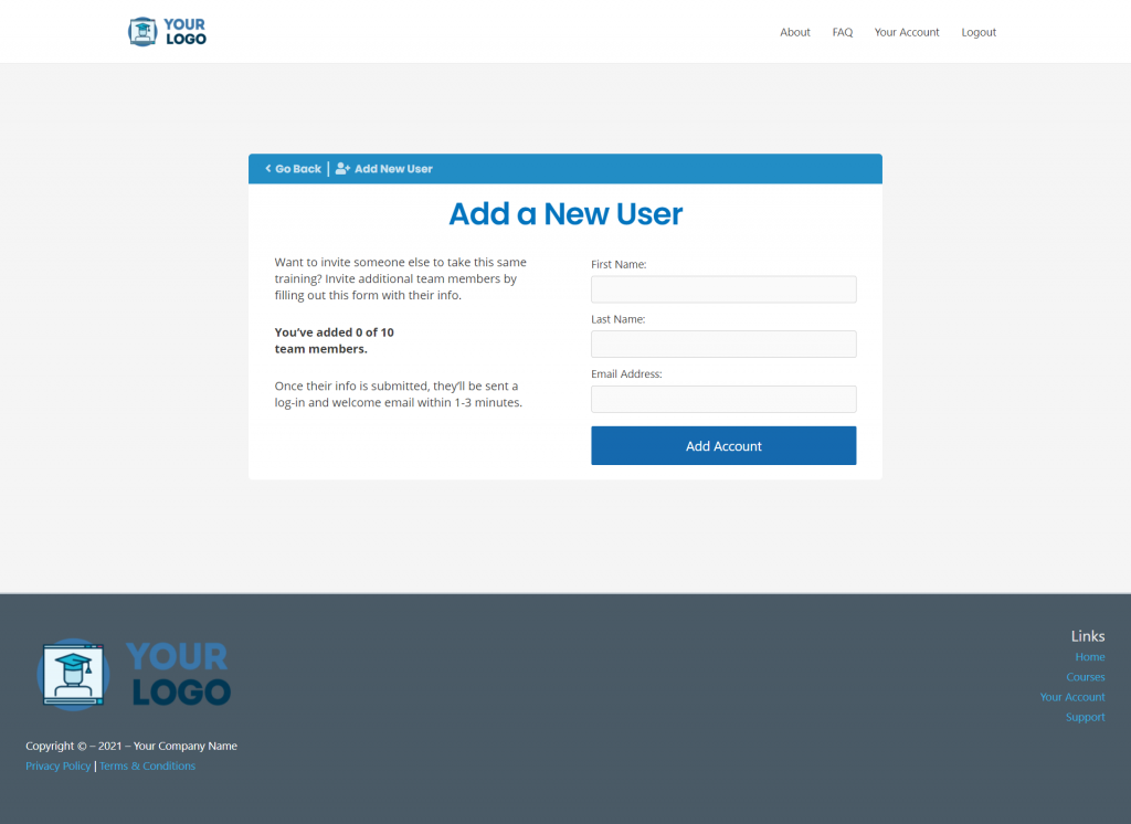 MCC IS Add New User