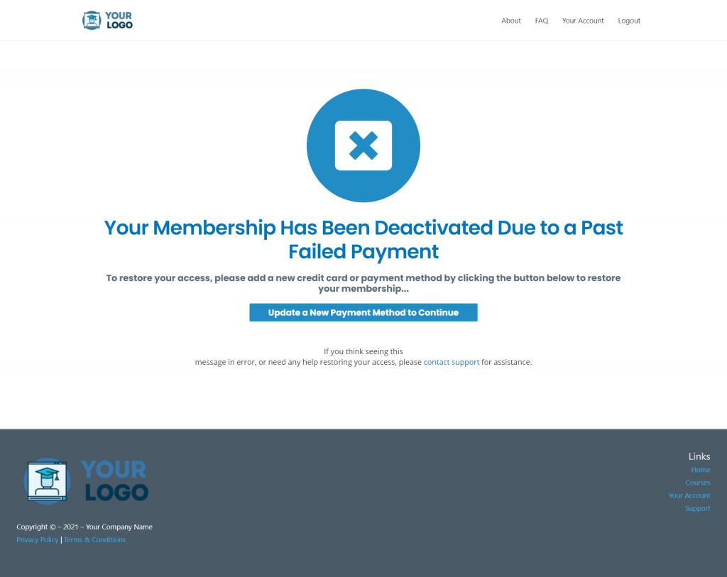 MCC IS Memb Deactivate Pay Fail